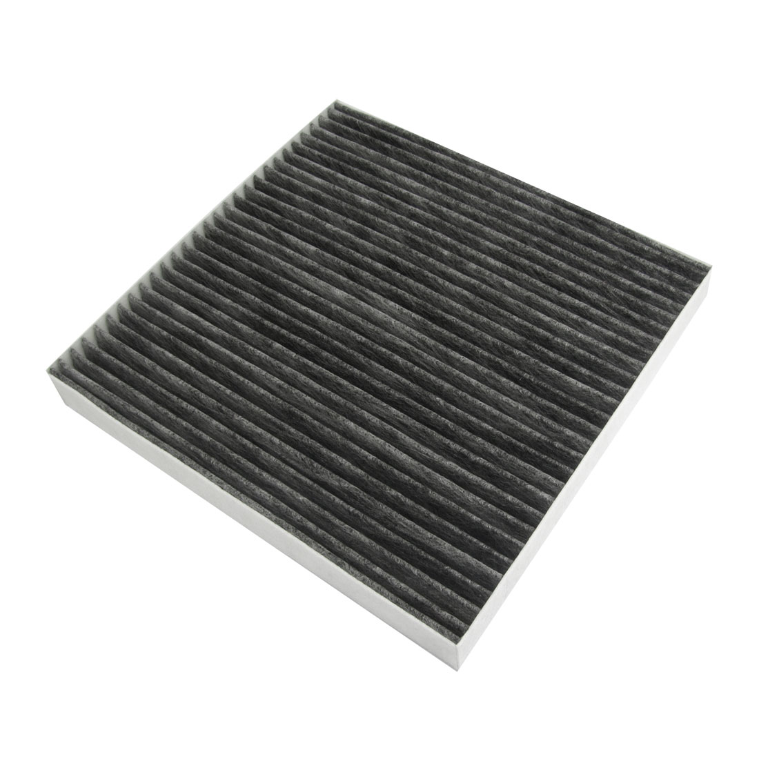 White Black Active Carbon Fiber A/C Cabin Air Filter