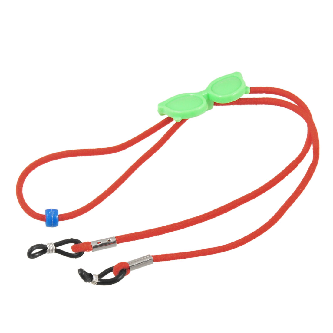 Red Elastic Nylon Neck Cord Green Plastic Glasses Eyewear Retainer Strap