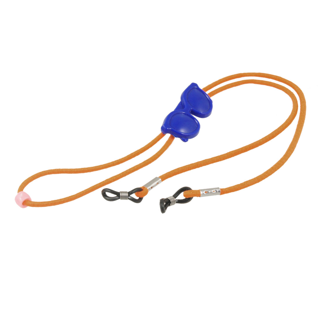 Orange Stretchy Nylon Neck String Blue Plastic Glasses Decor Eyewear Retainer Cord