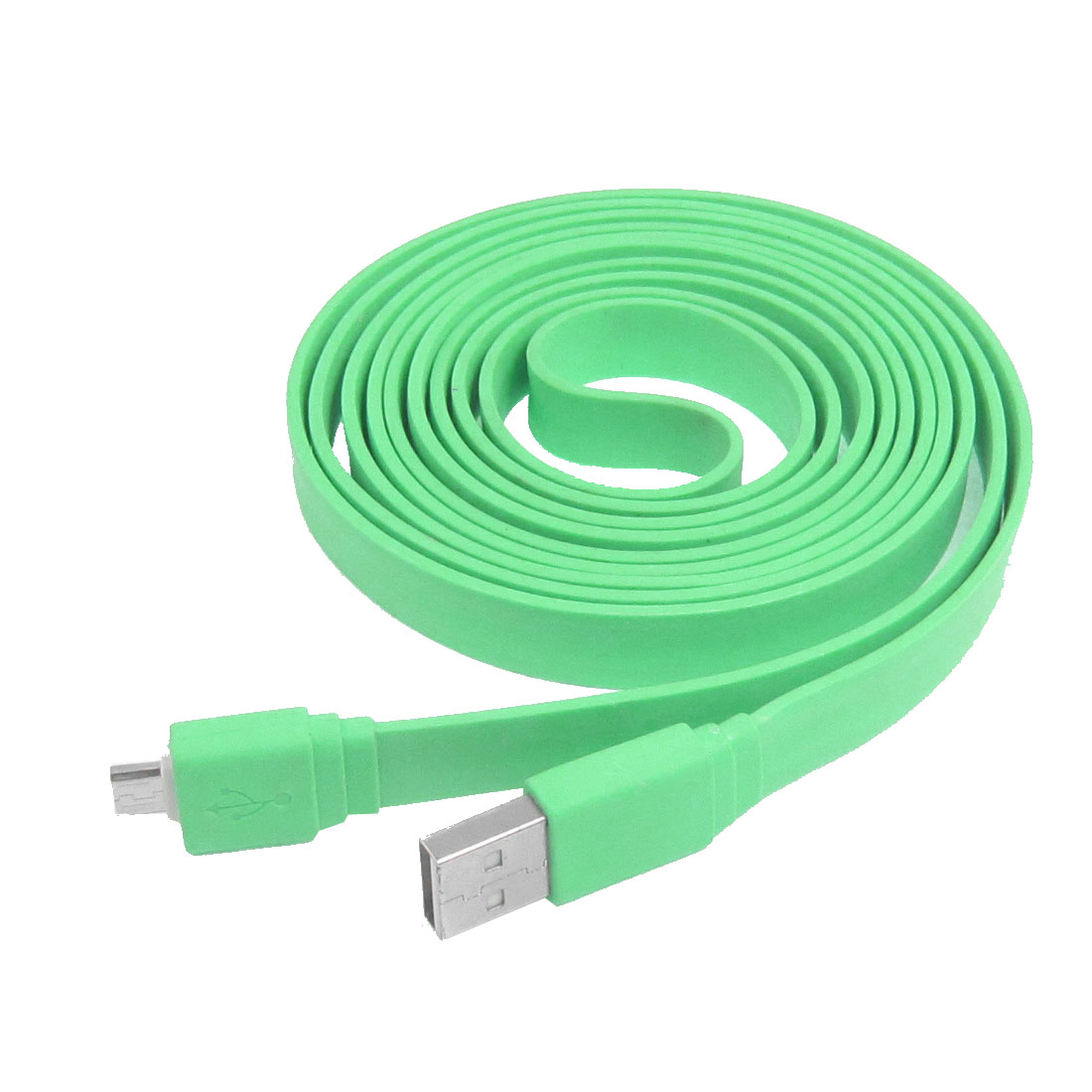 Green 2 Meter 6.5Ft Long Data Transfer USB Male A to Micro 5 Pin Cable