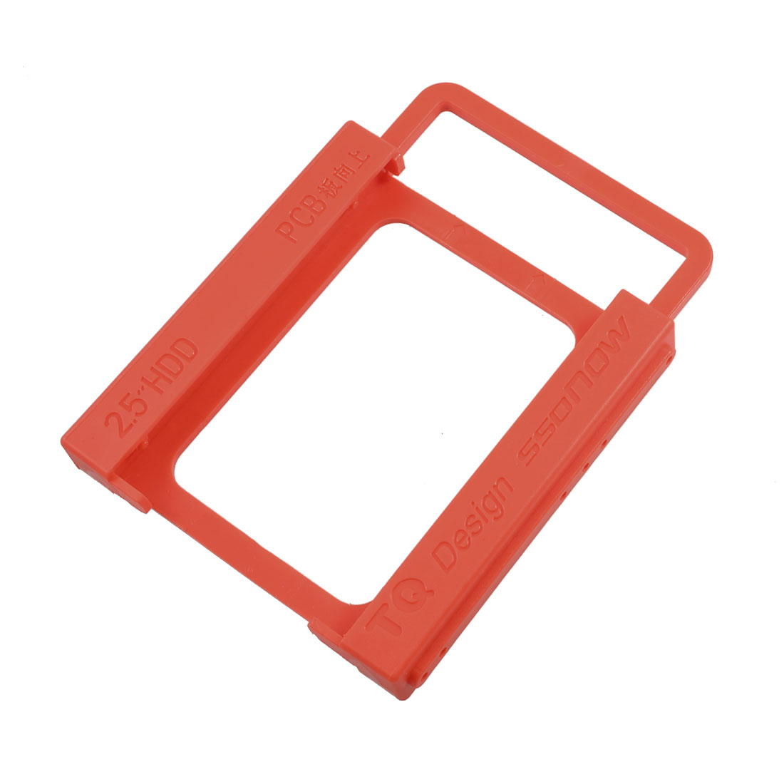 "Red Plastic 2.5"" Frame SSD Bracket Desktop PC HDD"