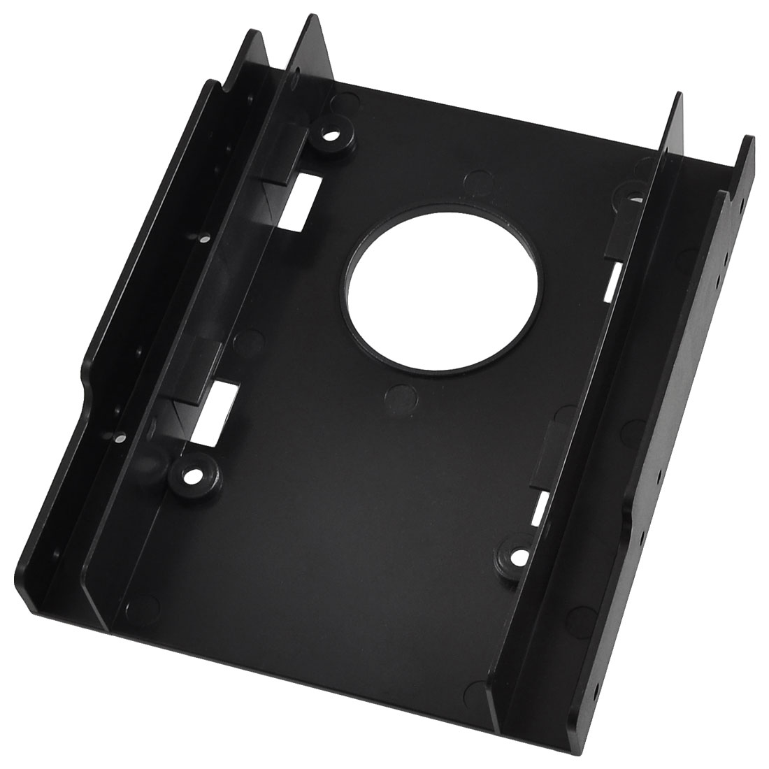 "Black Plastic 2.5"" Frame SSD Bracket Desktop PC HDD"