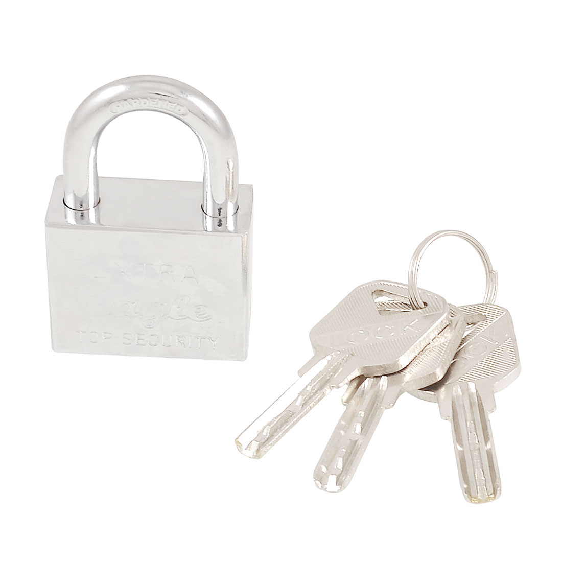 Office Door Gate 40mm Wide Silver Tone Security Lock Padlock + 3 Keys