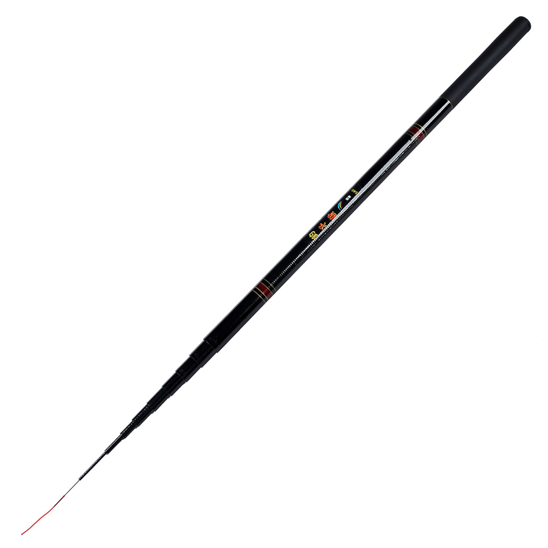 Portable 10 Sections Telescopic Fishing Rod Fish Pole Black 170""