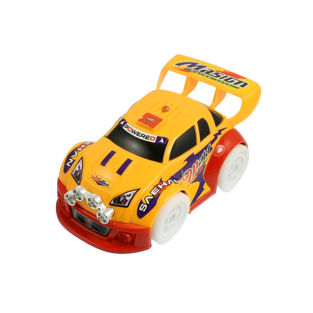 Flash Light Power Sport Racing Toy Car Red Yellow for Child