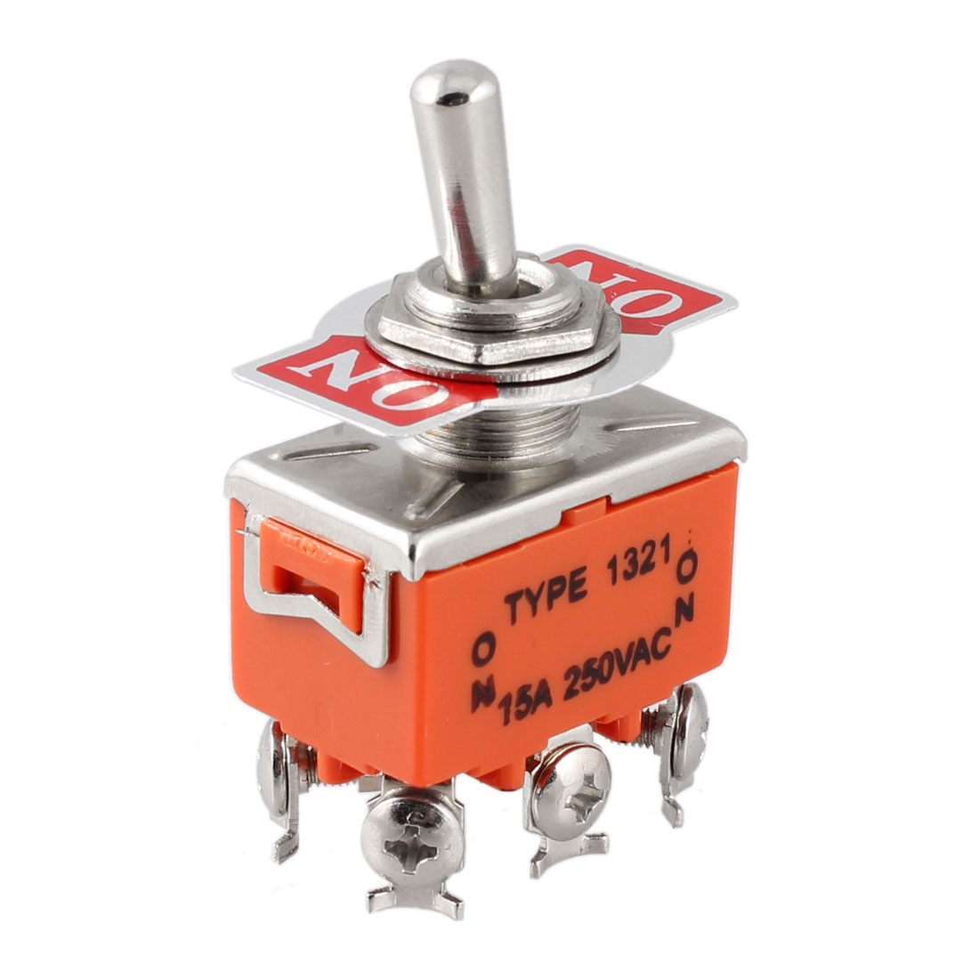 AC 250V 15A 6 Screw Terminals ON/ON 2 Position DPDT Toggle Switch