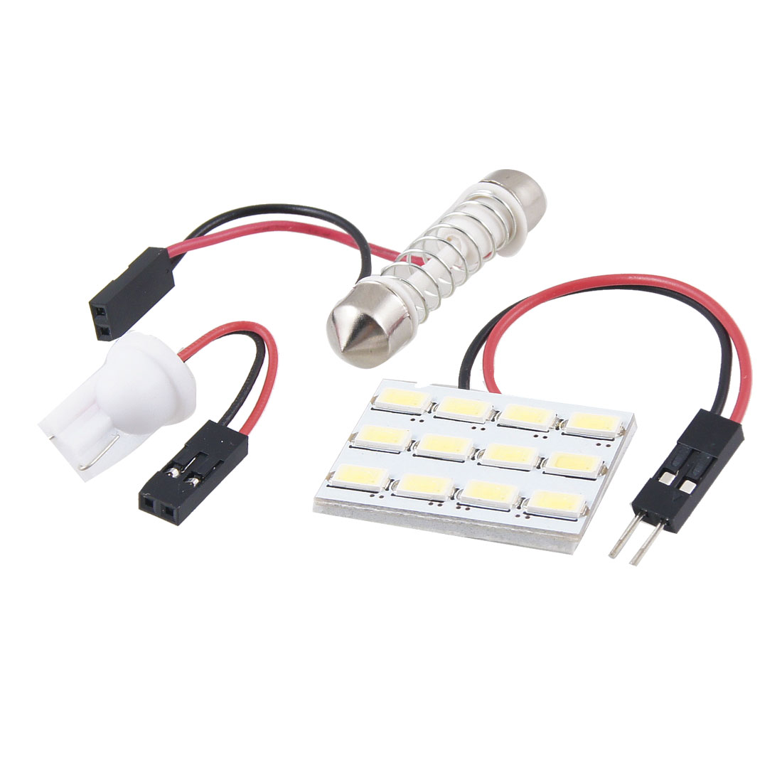 DC 12V White 5630 SMD 12 LED T10 Festoon Car Roof Dome Light Lamp Bulb