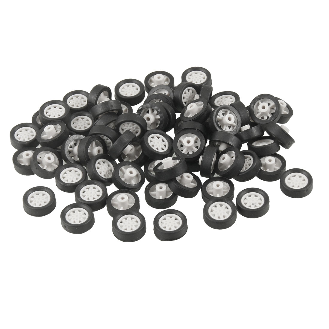 70 Pcs Repairing Part 11mm x 3mm Car Truck Vehicles Toy Wheels
