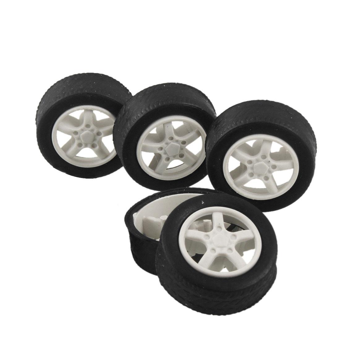 5 Pcs Repairing Part 31mm x 11mm Car Truck Vehicles Toy Wheels