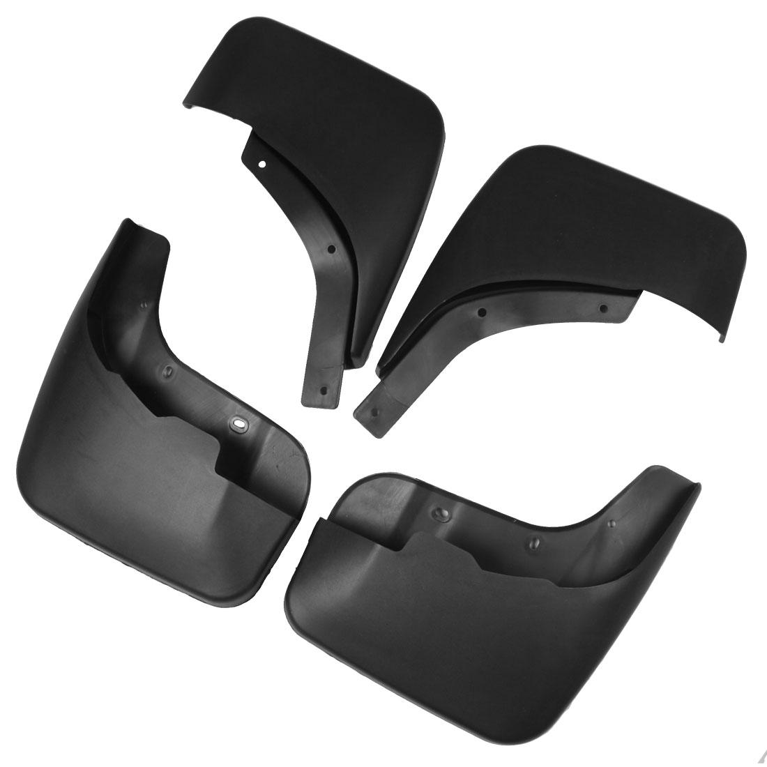 Black Plastic Splash Guards Mud Flaps Front Rear Set for Audi Q7