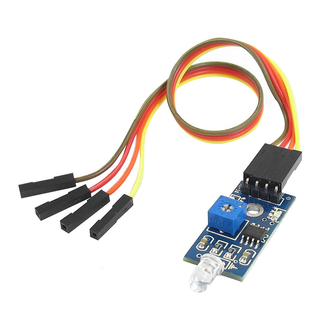 Brightness Detect 4 Pins 2 Channel Photosensitive Diode Sensor Module w 4-Wire