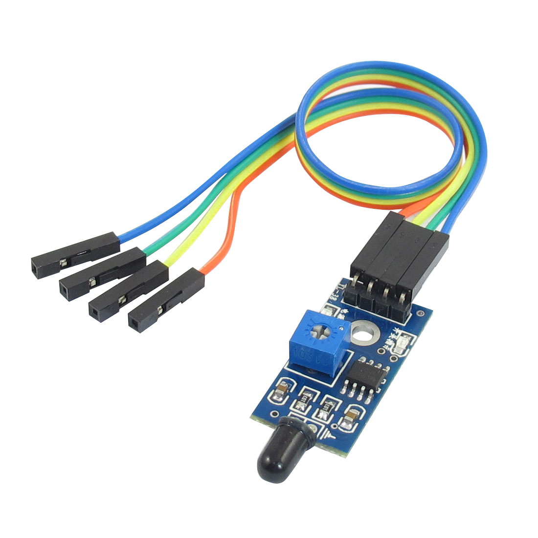 5V 4 Pins 2 Channel LM393 Chip Infrared IR Light Flame Sensor Module w Cable