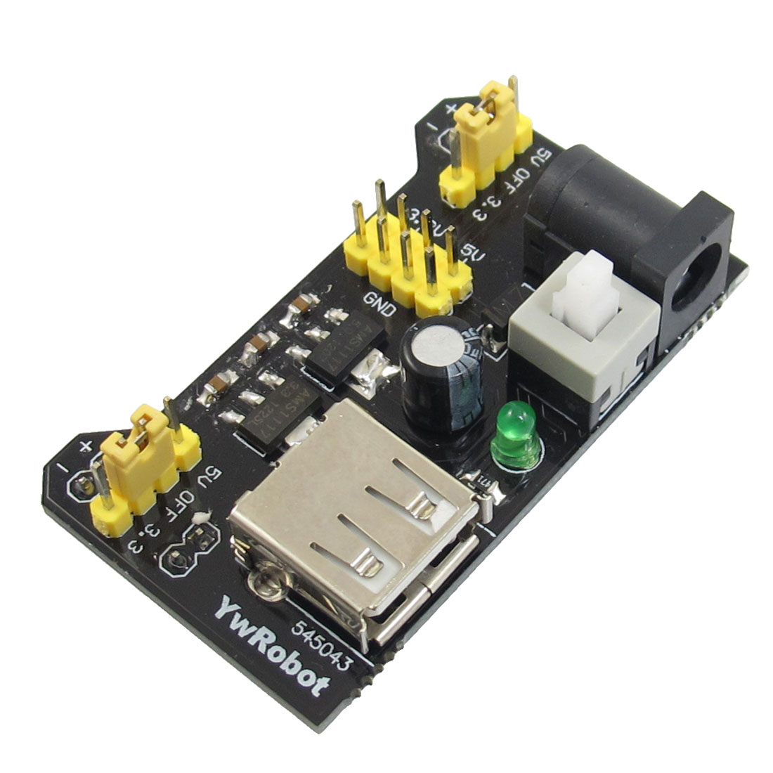 3.3V 5V Breadboard Power Supply Module for MB102 Solderless Breadboard