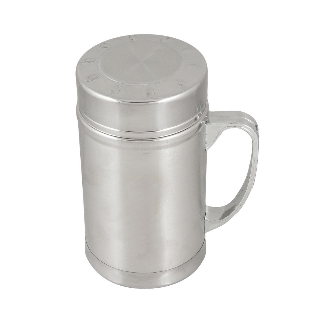 Silver Tone 380ml Stainless Steel Office Home Strainer Tea Cup