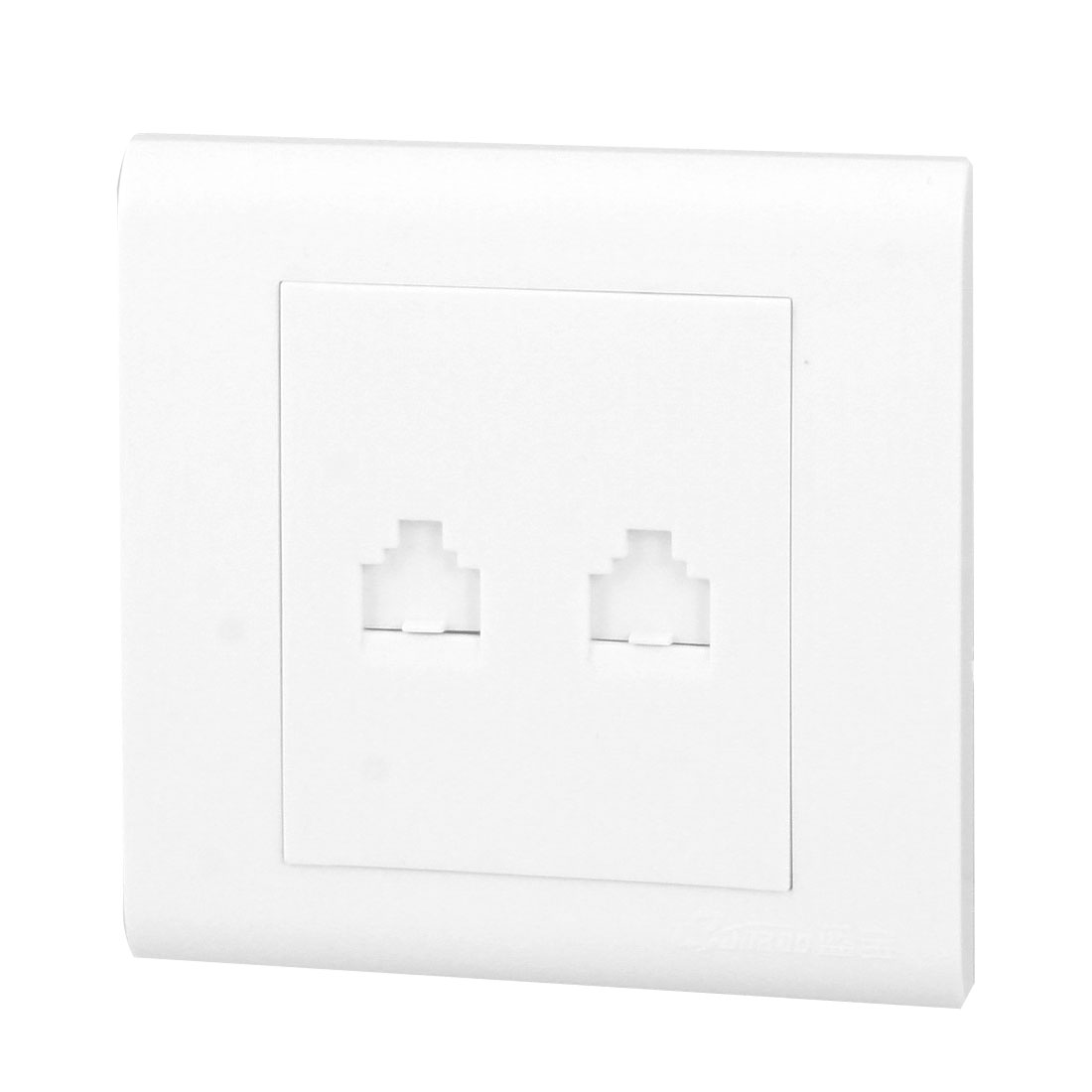 White 8P8C 8P4C RJ45 Network Socket Phone Outlet Jack Wall Face Plate Panel