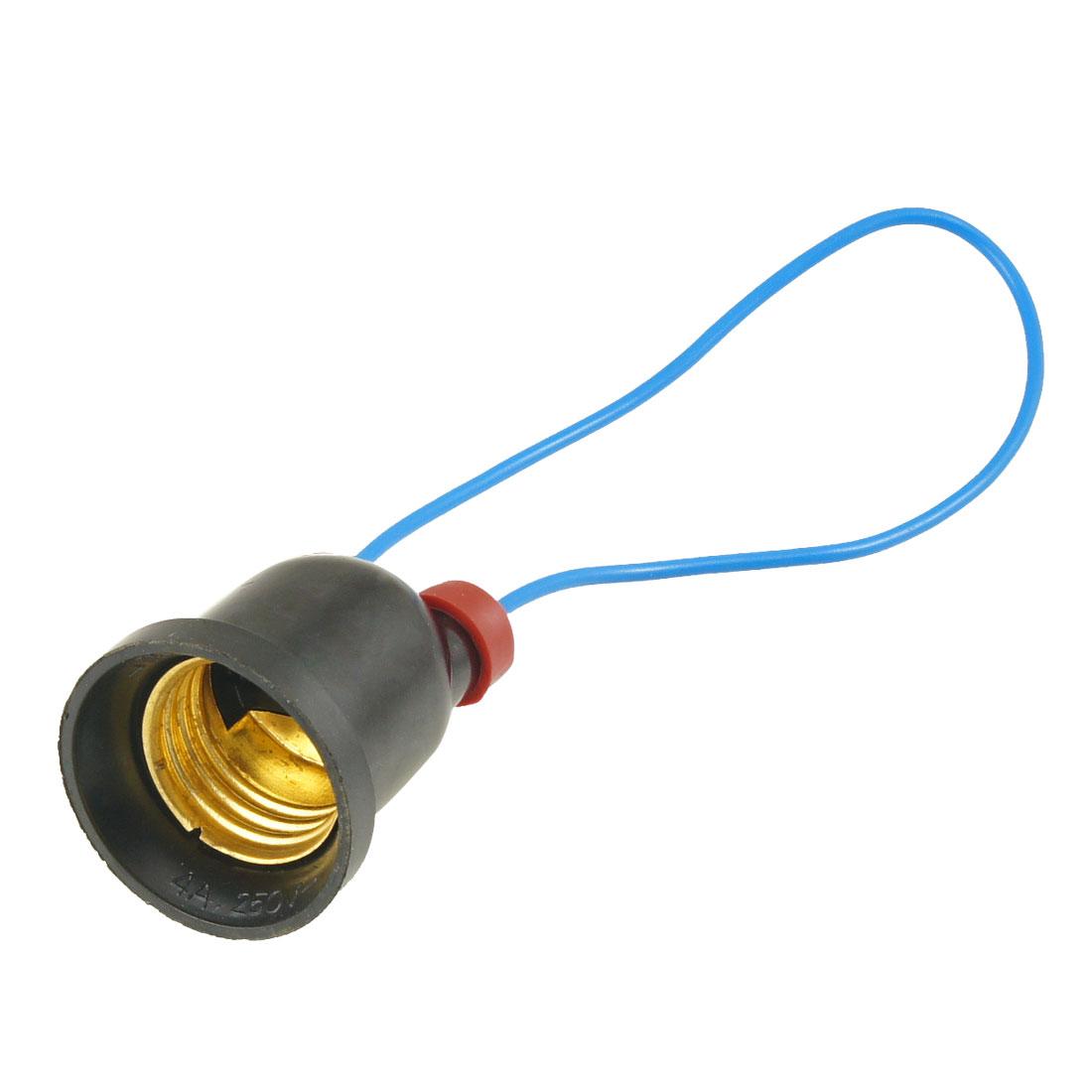 Plastic E27 Screw Base LED Halogen CFL Light Bulb Lamp Adapter Converter
