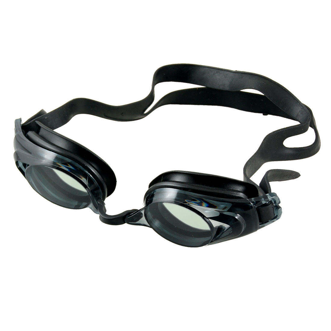 Black Silicone Adjustable Headband Swimming Goggles for Men Women