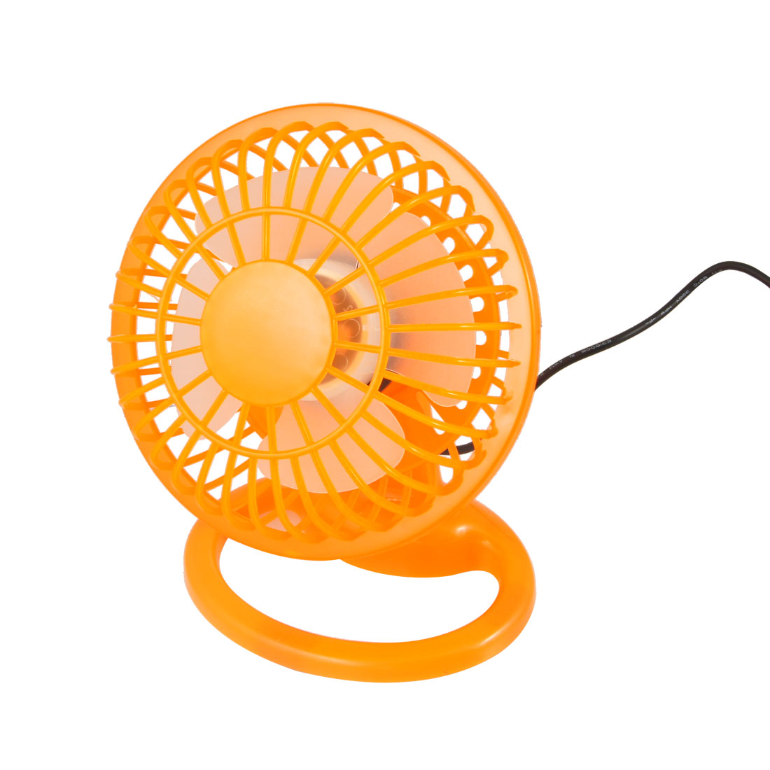 Orange Hard Plastic 4 Flabellums USB Cooler Cooling Desk Mini Fan