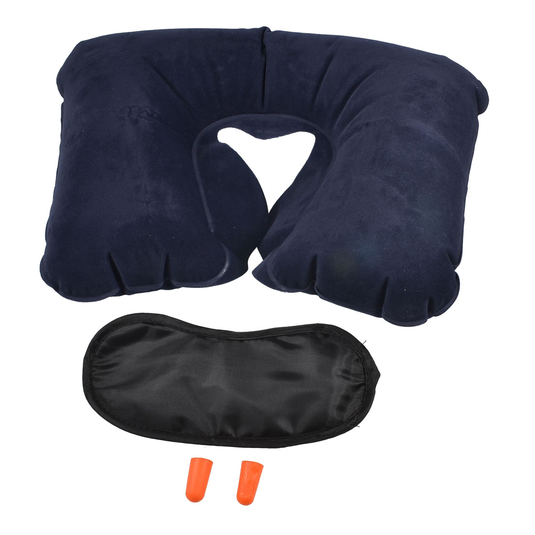 Travel Traveling Pack Neck Air Pillow + Eye Shade + Earplugs