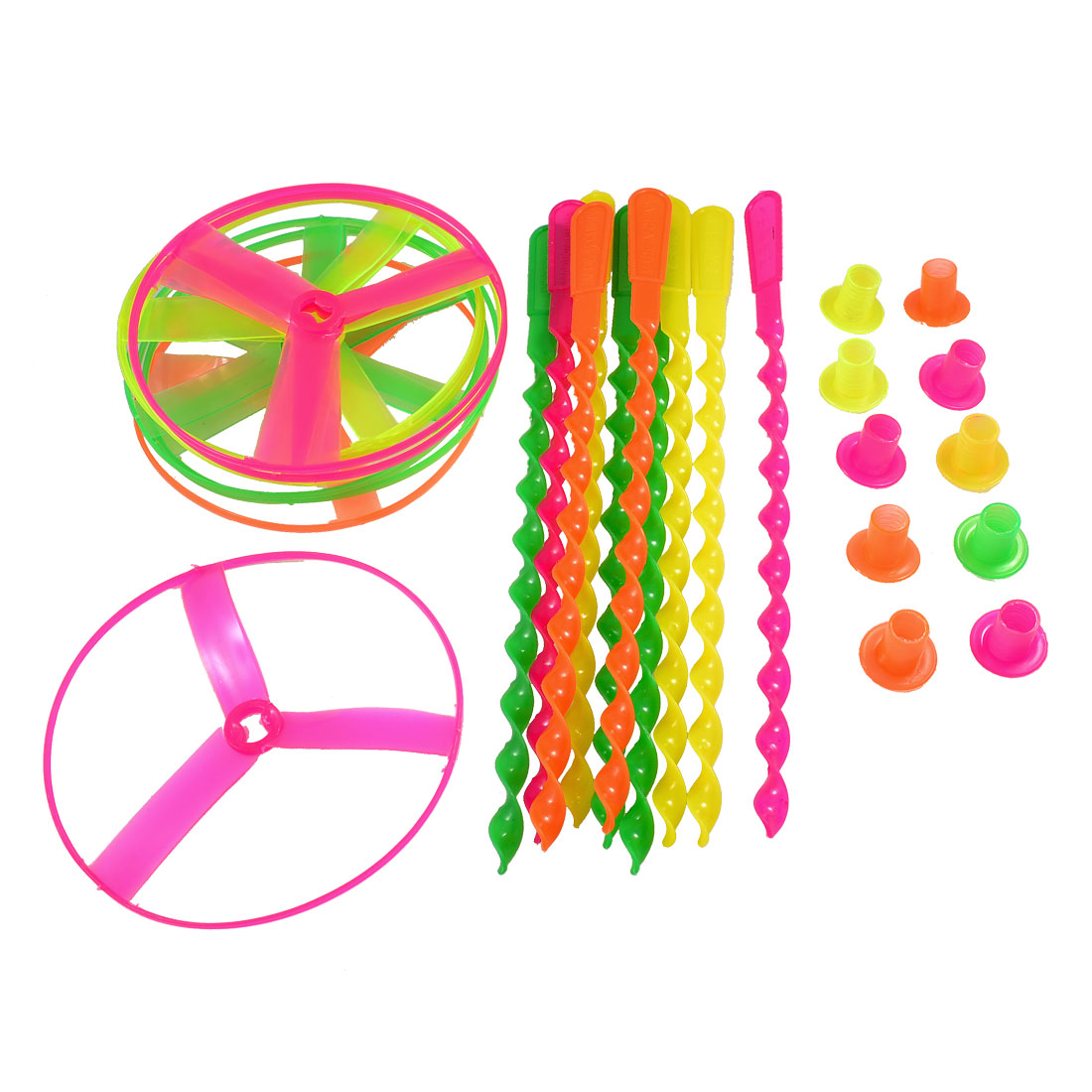 10 Pcs Colorful Plastic Spinning Shooter Flying Disc Toys Plaything for Children