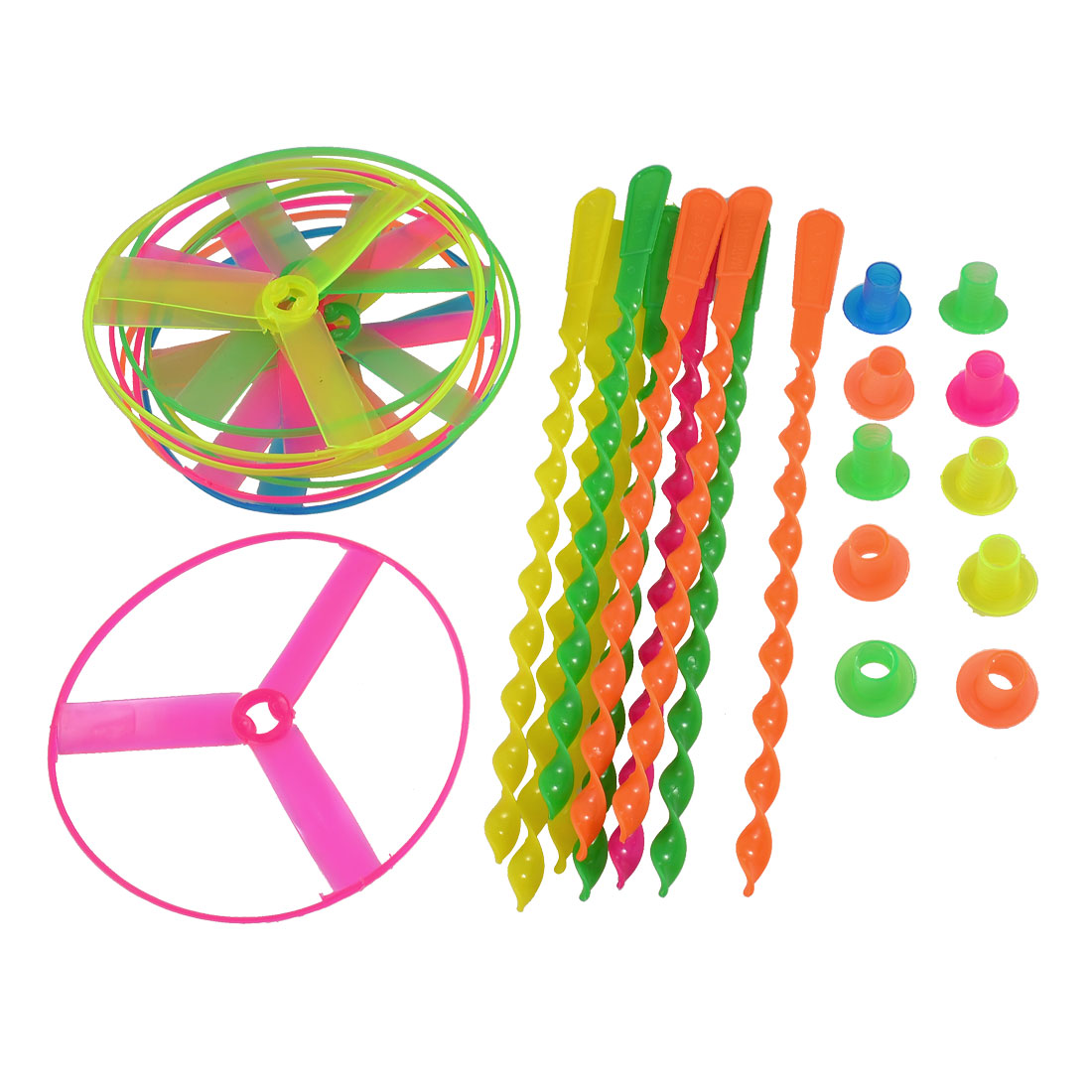 10 Pcs Assorted Color Plastic Spinning Shooter Flying Disc Toys for Children