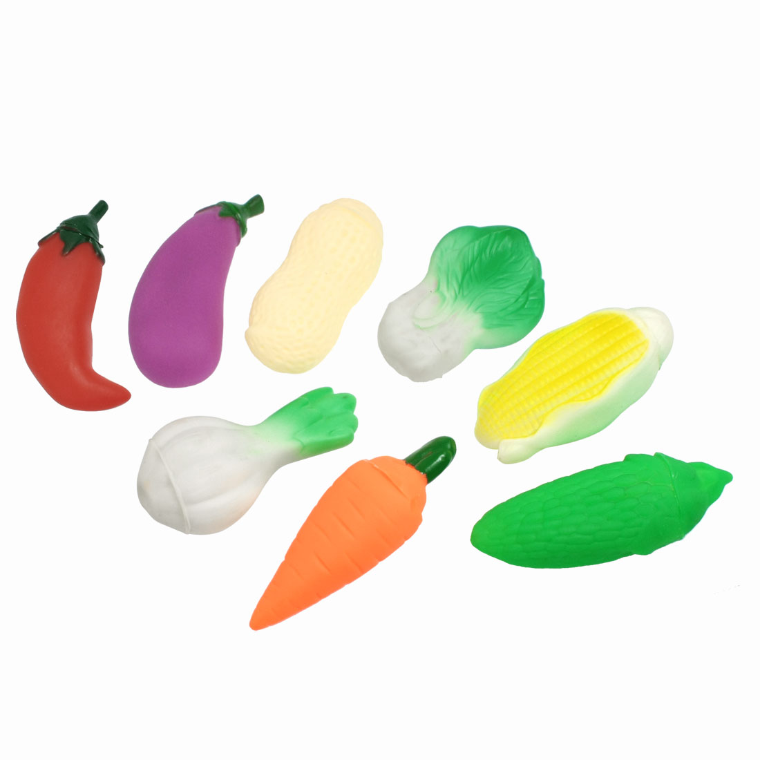 8 Pcs Plastic Faux Vegetable Kitchen Pretend Play Squeeze Toys for Child