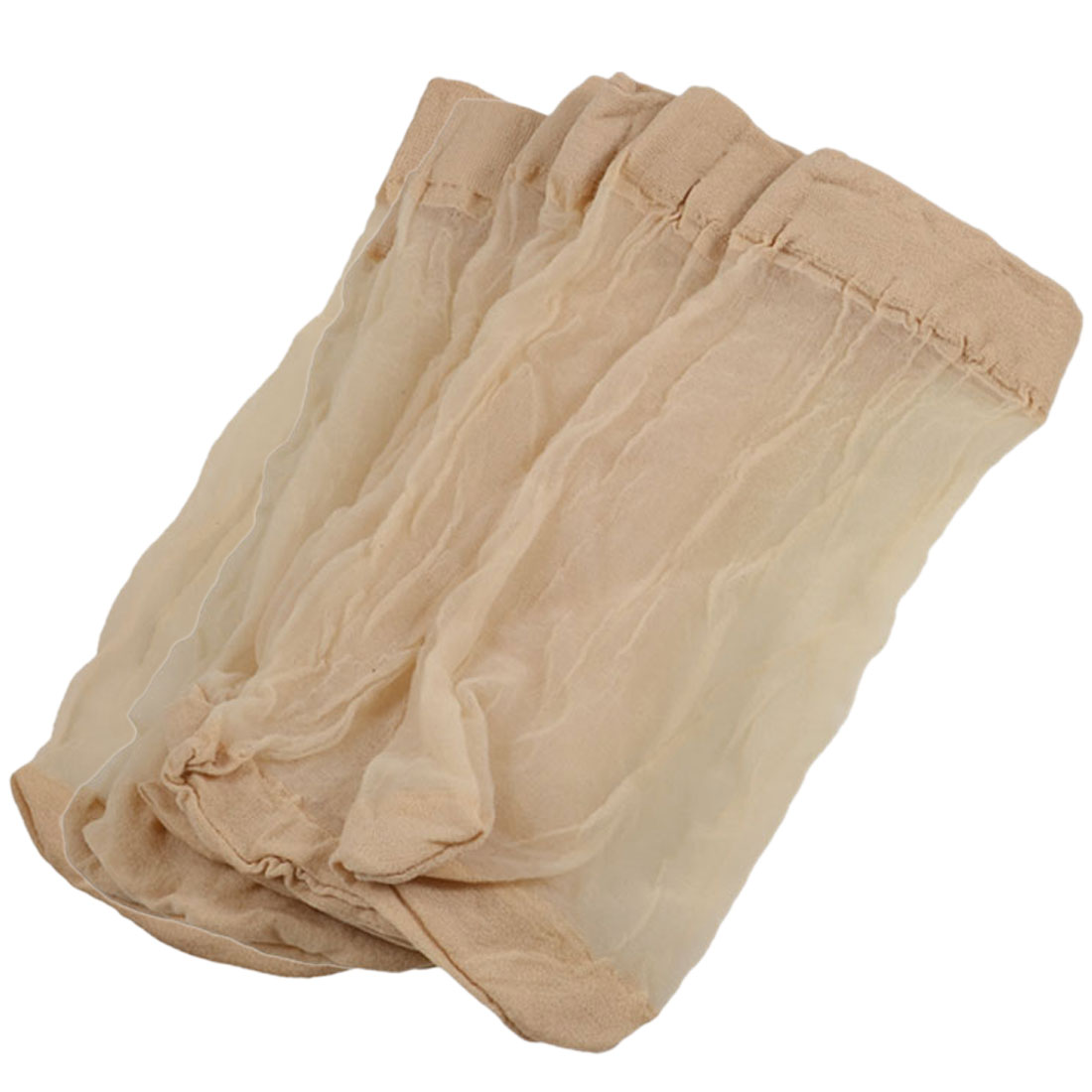 5 Pairs Beige Fitting Stretchy Sheer Socks for Laides