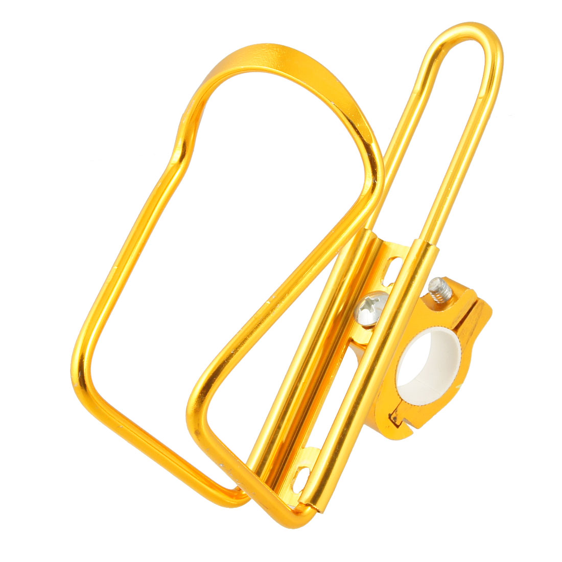 Gold Tone Metal Drink Water Bottle Holder Cage Rack for Bike
