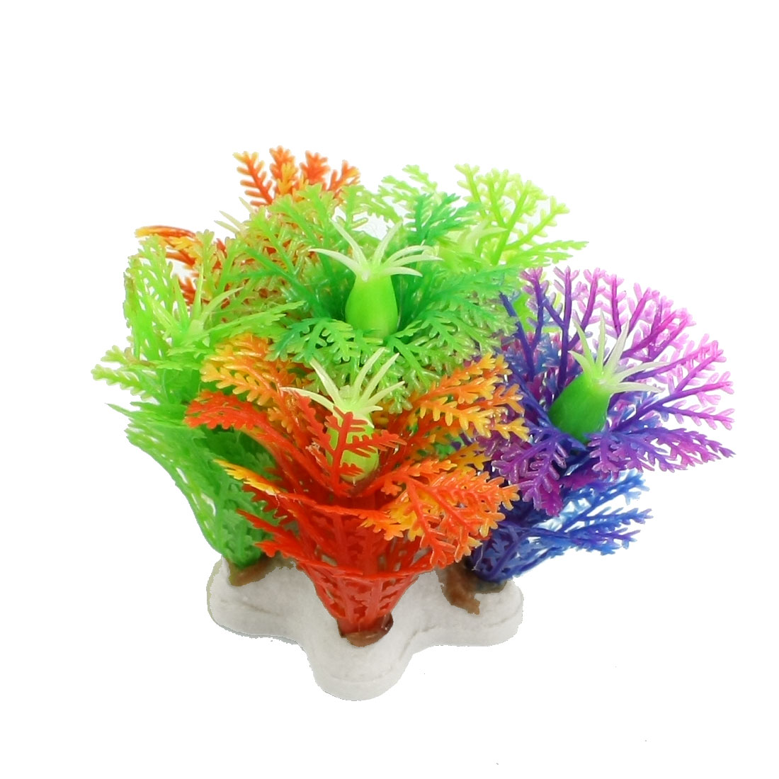 "2.1"" Height Green Stamen Artificial Snowflake Design Fish Aquarium"