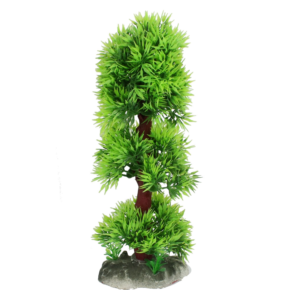 "Ceramic Base 9.0"" Height Manmade Plant Grass Ornament for Fish Aquarium"