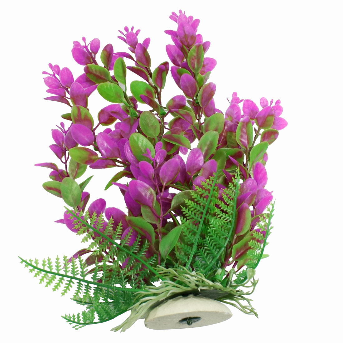 Fish Aquarium Fuchsia Green Plastic Plant Landscaping Decoration 9.8""