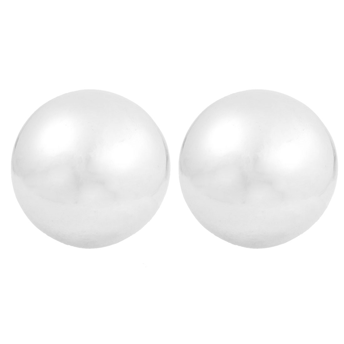 "2 Pcs Silver Tone Hand Palm Exercise 1.9"" Dia Chime Massage Ball"