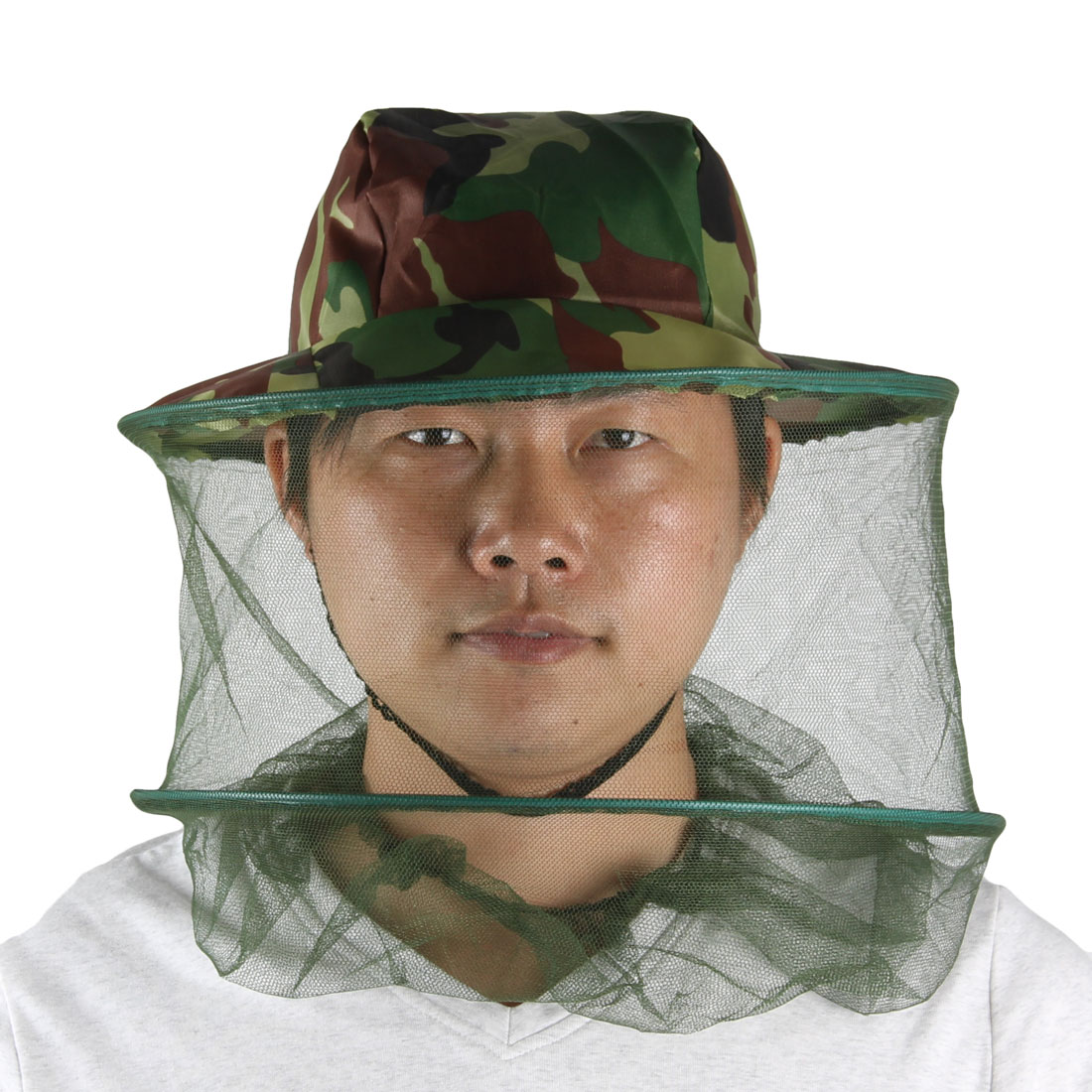 Mesh Camouflage Print 2 Layers Foldable Hat Cap for Fishing