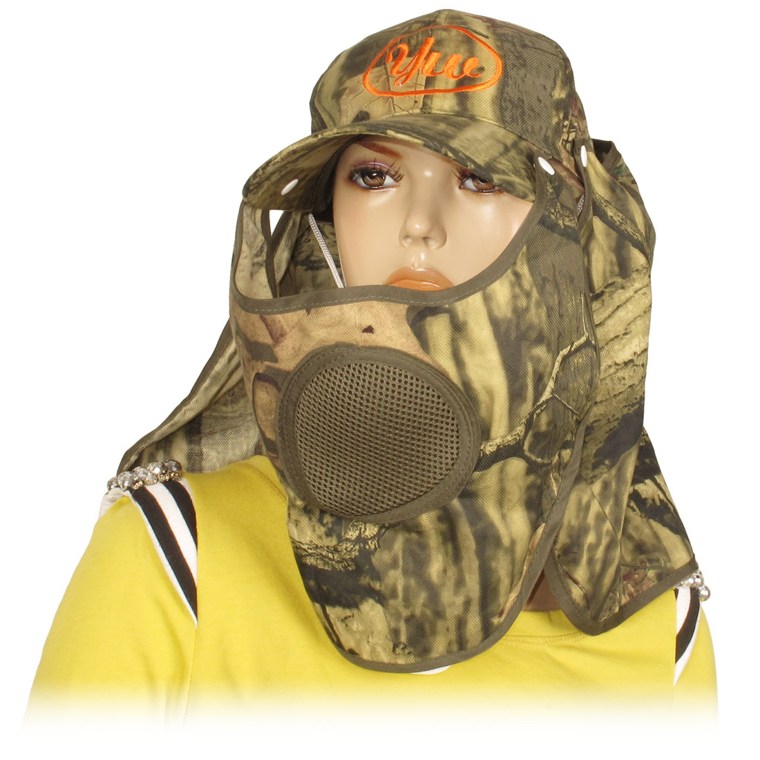Fishing Adjustable Head Band Camouflage Long Neck Flap Hat Cap