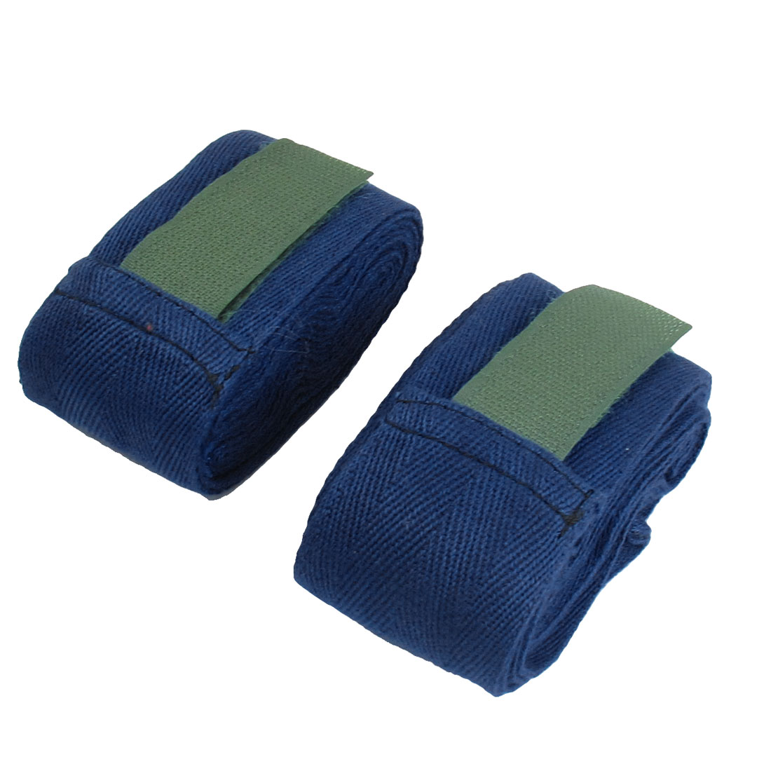 Hook and Loop Fastener Dark Blue Boxing Hand Wraps Bandages Pair