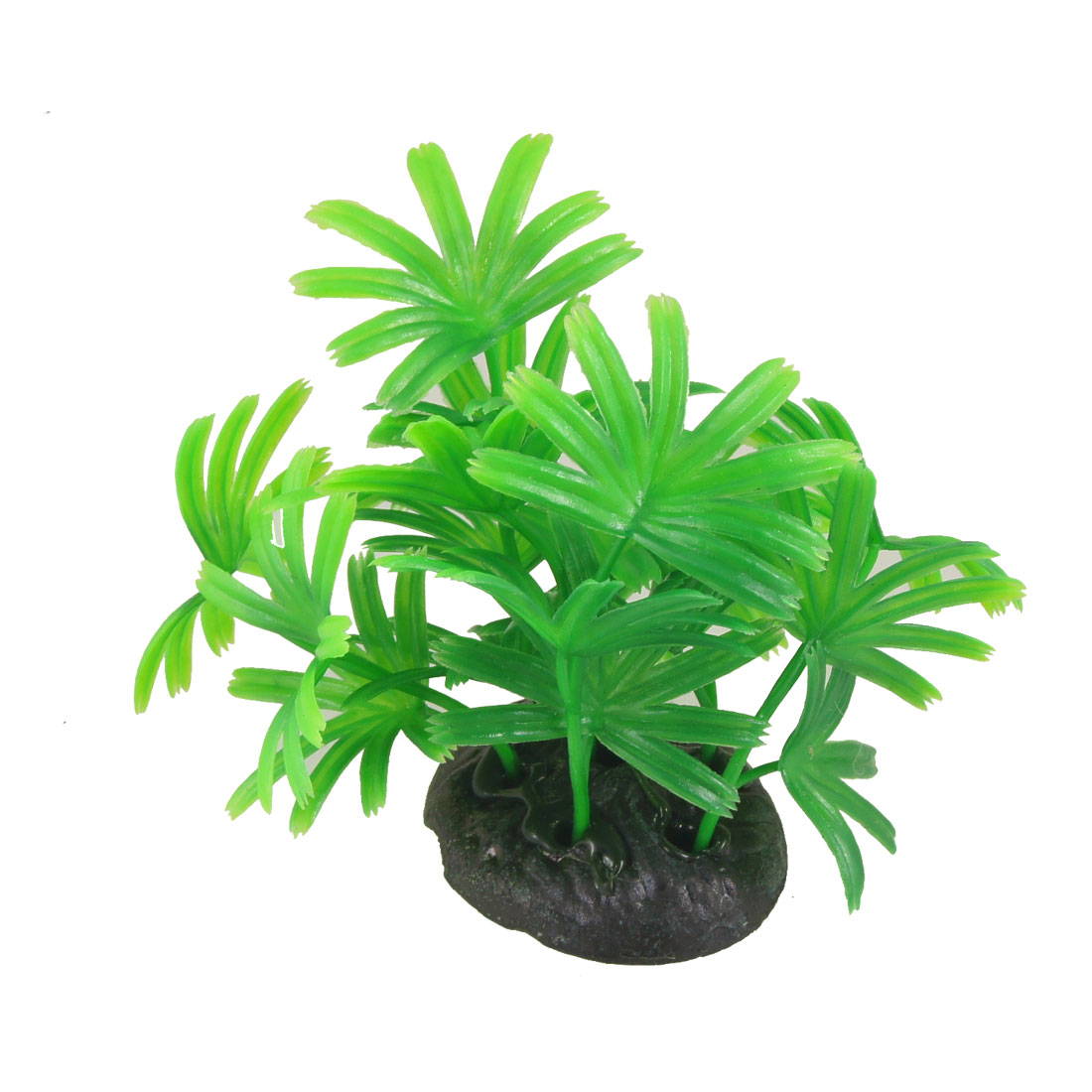 "Aquarium 3.9"" Height Resin Base Plastic Green Water Grass Plants for Fish Tank"