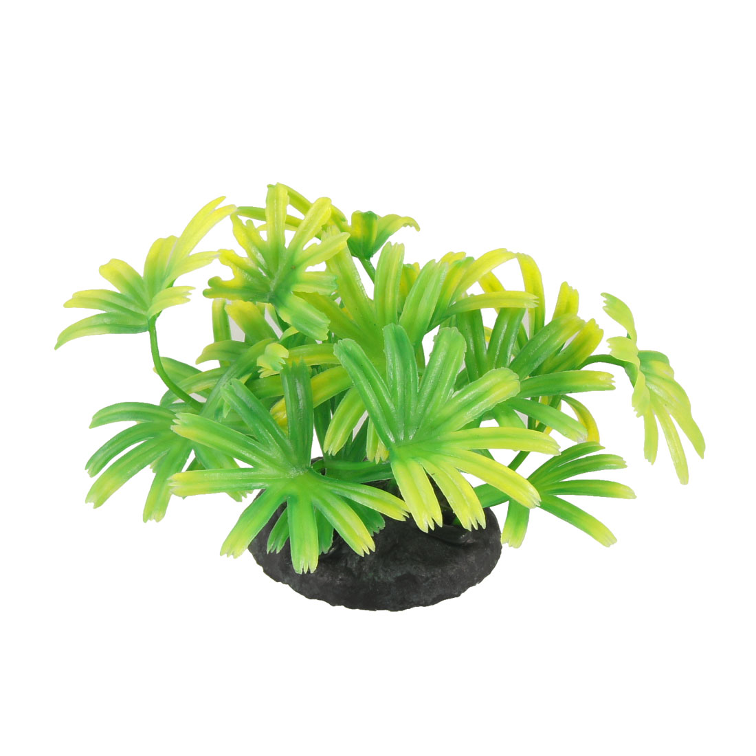 Resin Base Green Yellow Plastic Water Grass Plants for Aquarium Fish Tank