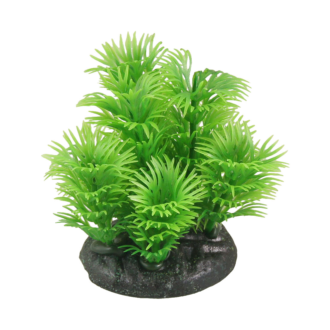 "3.5"" Height Resin Base Plastic Green Leaves Water Grass Plants for Aquarium Fish Tank"