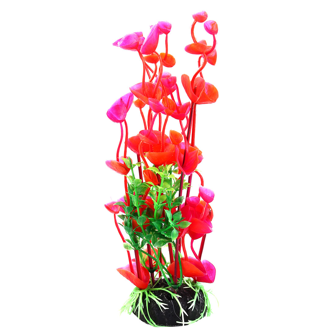 Aquarium Fish Tank Artificial Plants Aquascaping Ornament Red Green 8 Inch Height