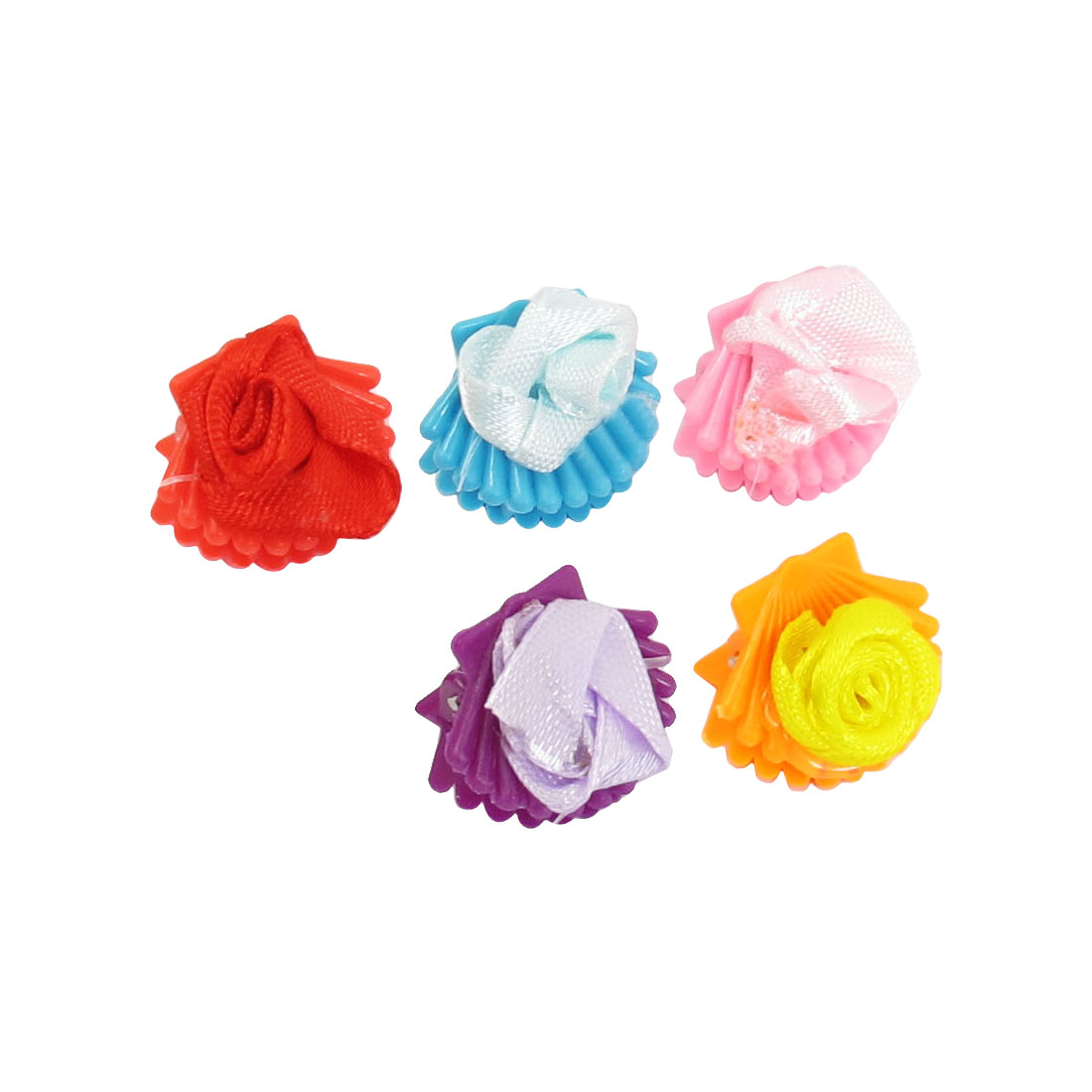 10 Pcs Colorful Plastic Flower Shape Hair Claw Clip Holder for Girl