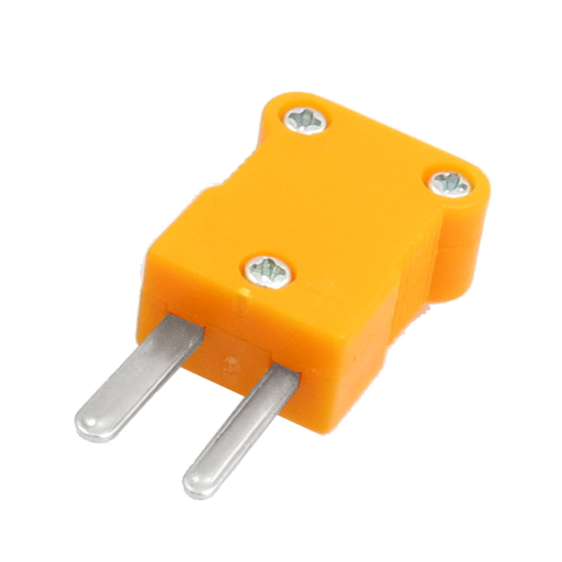 Orange Plastic Housing 2 Terminals Male Thermocouple Plug K Type