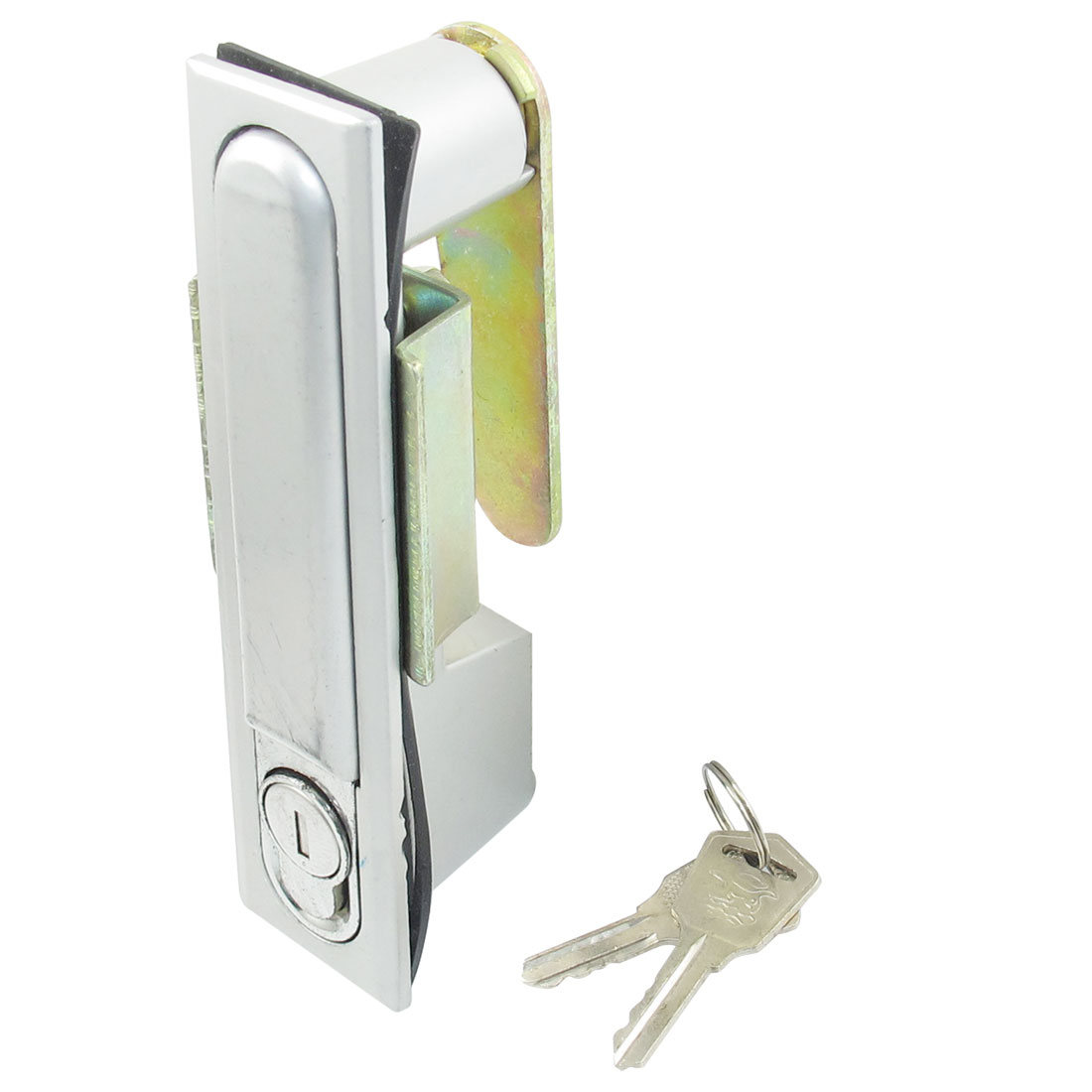 Silver Tone Metal Pop-up Push Button Store Cabinet Door Plane Cam Lock