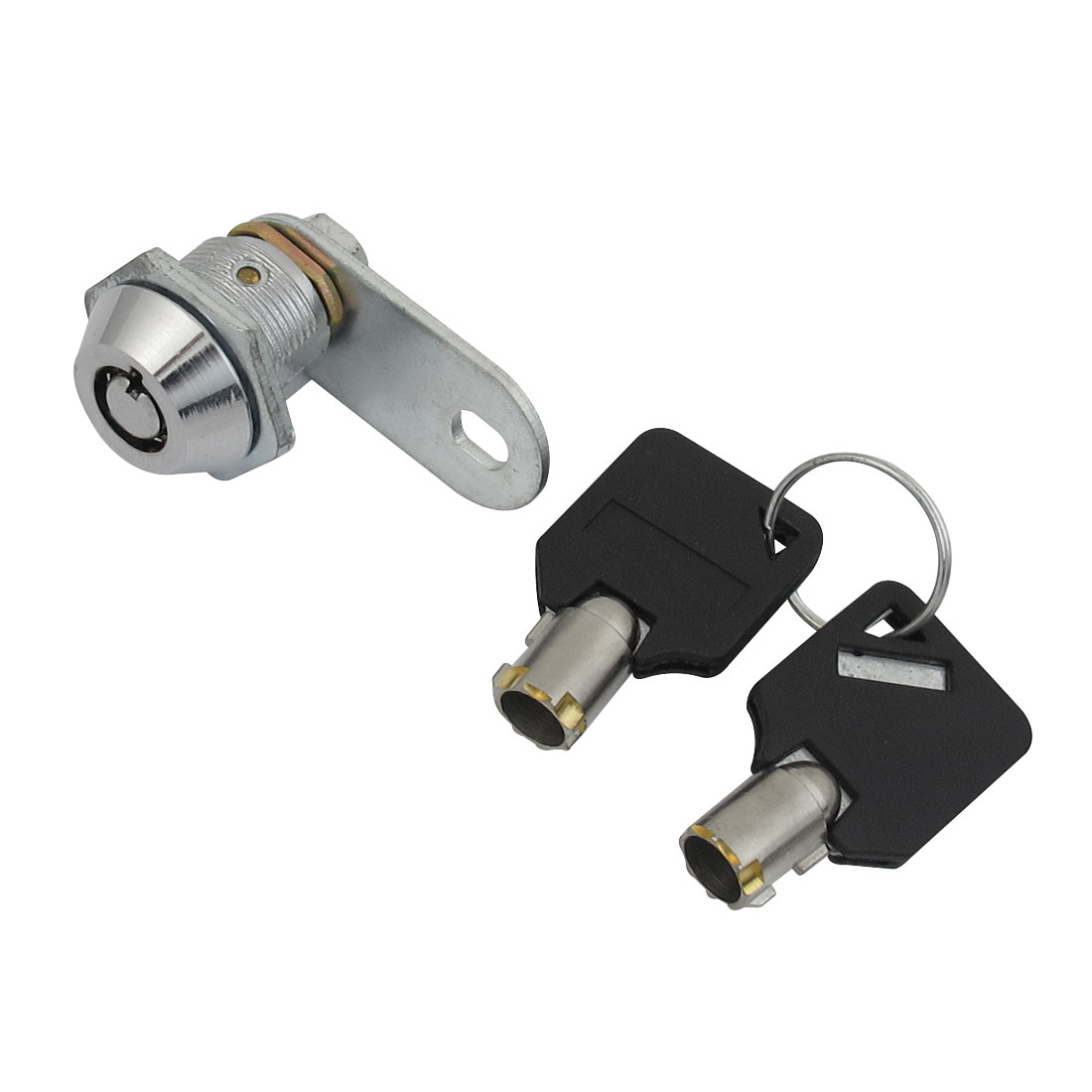 Silver Tone 18.5mm Thread Store Drawer Door Metal Plane Cam Lock