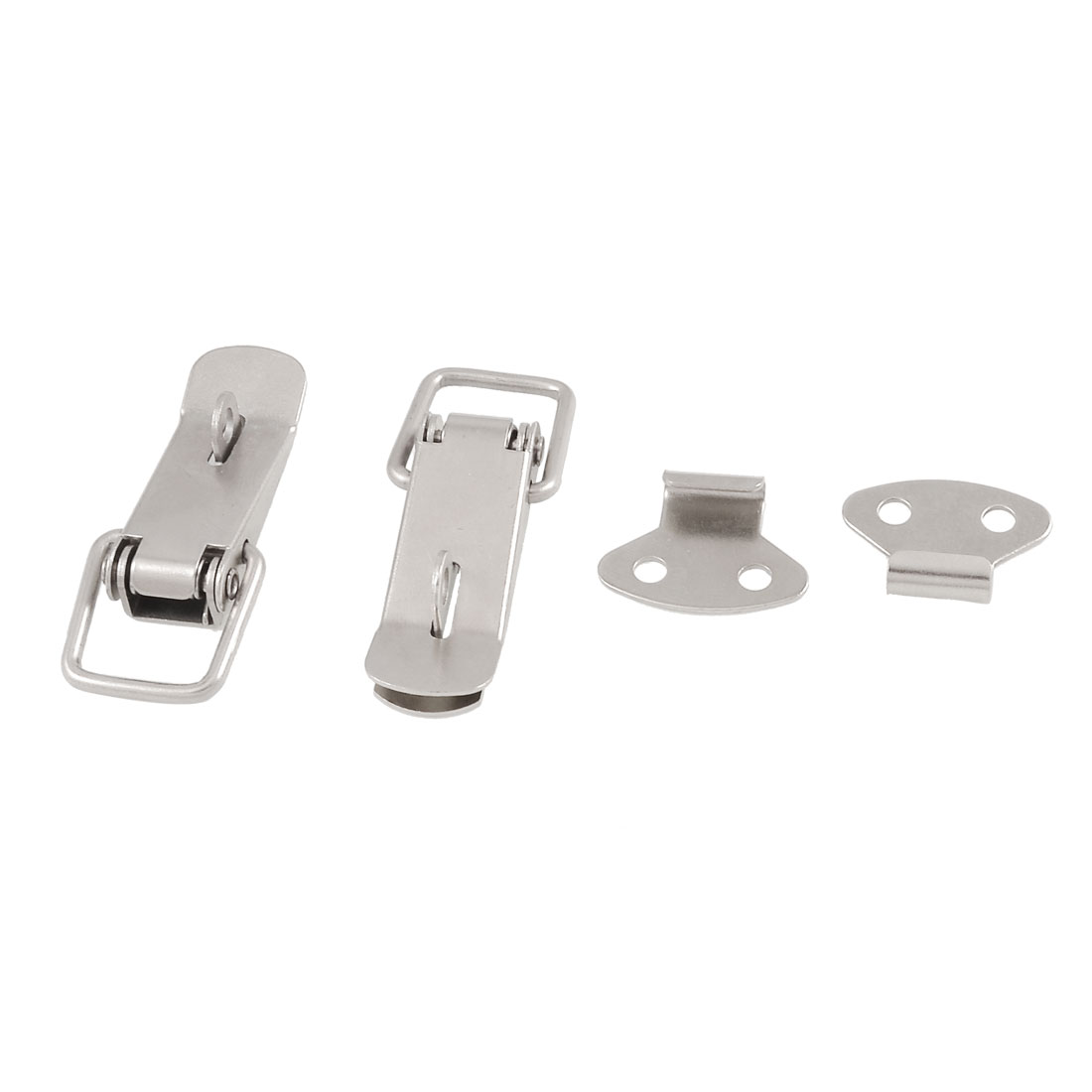2 Pcs Hardware Aviation Toolbox Silver Tone Metal Toggle Latch