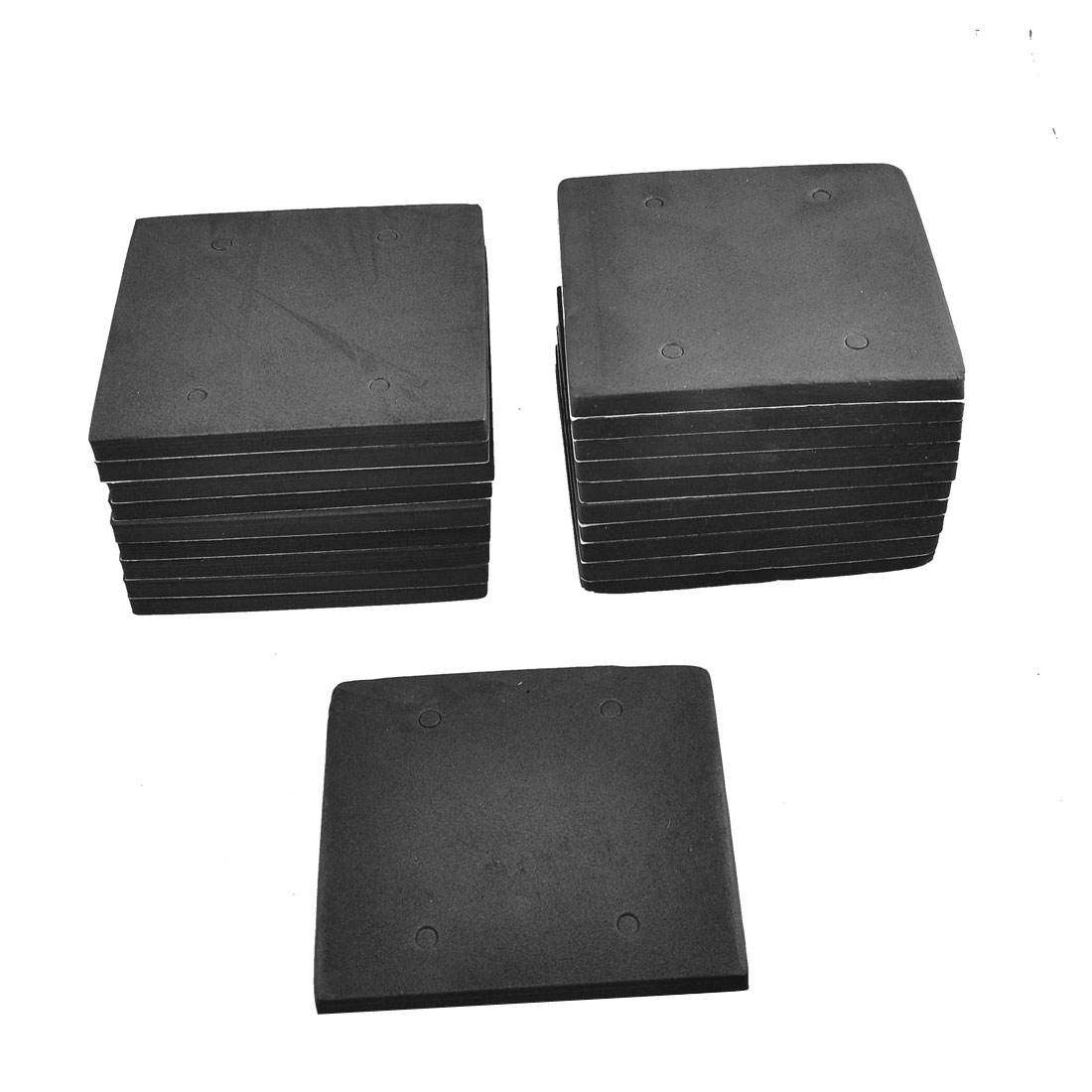20 Pcs Square Shape Adhesive Foam Replacement Sander Back Pad Mat Black