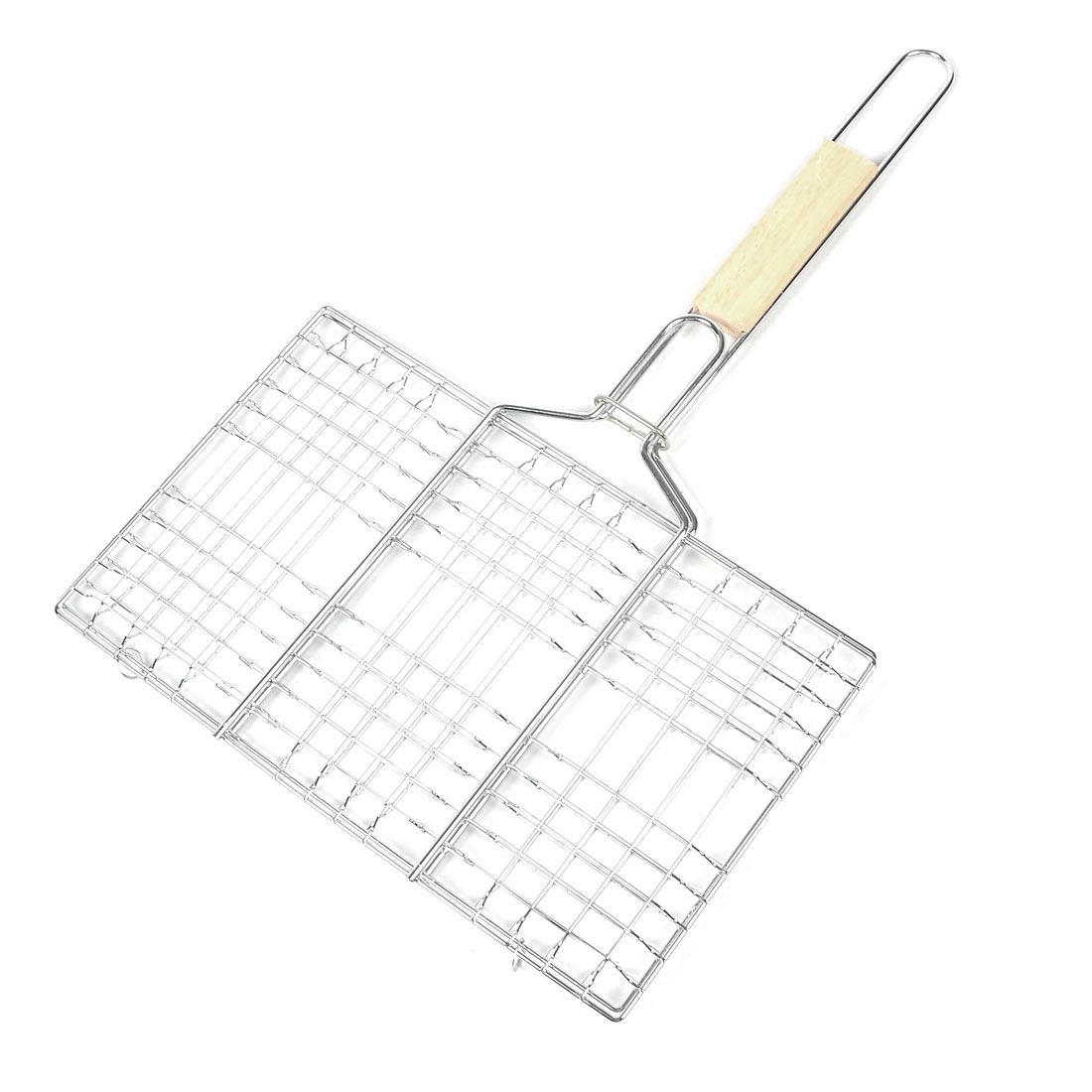 Outdoor Cookware BBQ Picnic Tools Rectangle Metal Broiler Basket