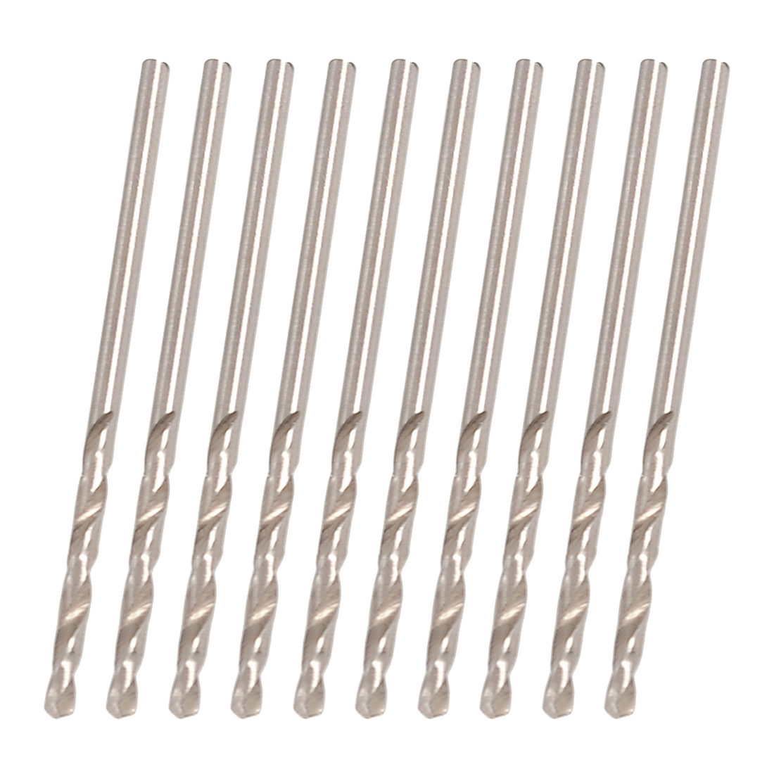 Replacement 1.8mm Dia Spiral Flute HSS Twist Electric Drill Bit 10 Pcs
