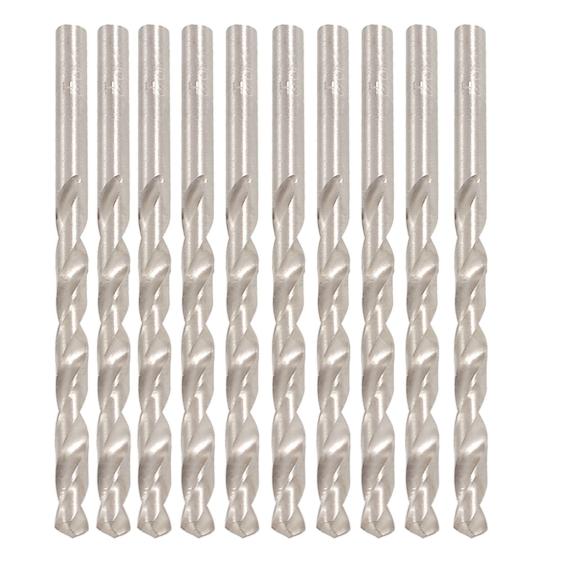 10 x Replacement 5mm Dia Spiral Flute Straight Shank Twist Electric Drill Bit