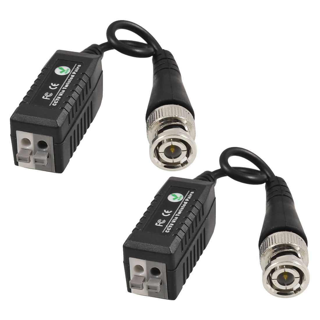 Single Channel CCTV Via Twisted Pairs UTP Passive Video Balun Transceiver