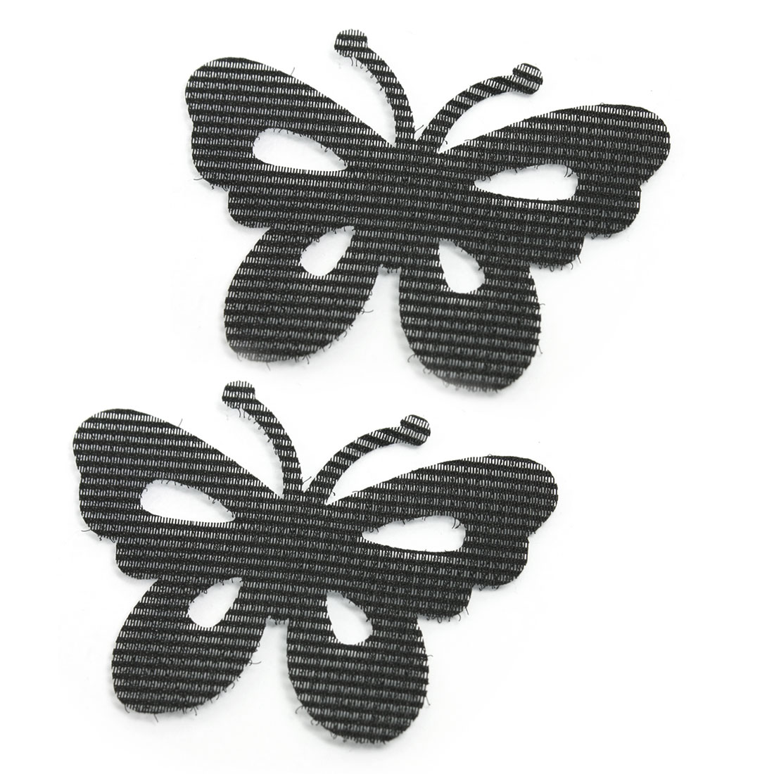 Lady Black Butterfly Shaped Nylon Foretop Fringe Magic Sheets 2 Pcs
